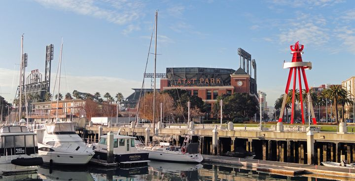 AT&T Park waterfront view - Art by Iain