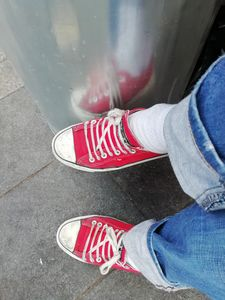Red Shoe Reflection