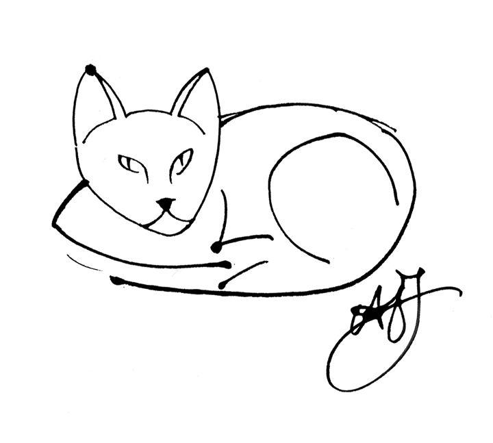 Linear Cat (ASJ) - Orleans Heraldry & Fine Art