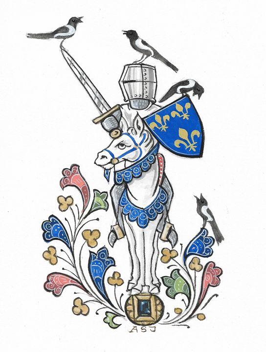 French Royal Knight (ASJ) - Orleans Heraldry & Fine Art