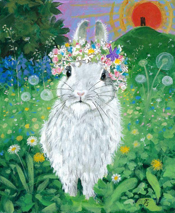 White Hare of Glastonbury (CJ) - Orleans Heraldry & Fine Art