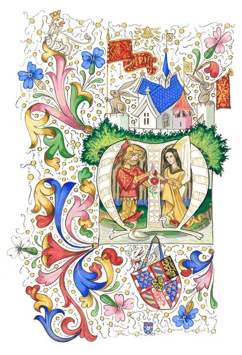 Burgundian Illumination (ASJ) - Orleans Heraldry & Fine Art
