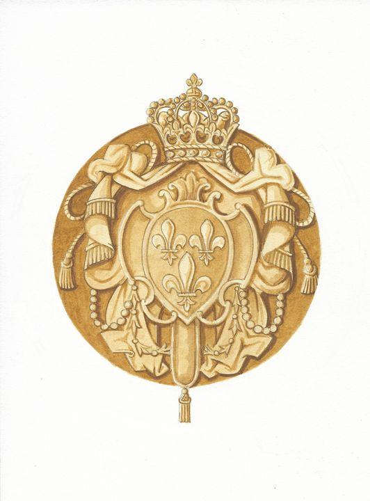 Royal Arms of France (ASJ) - Orleans Heraldry & Fine Art