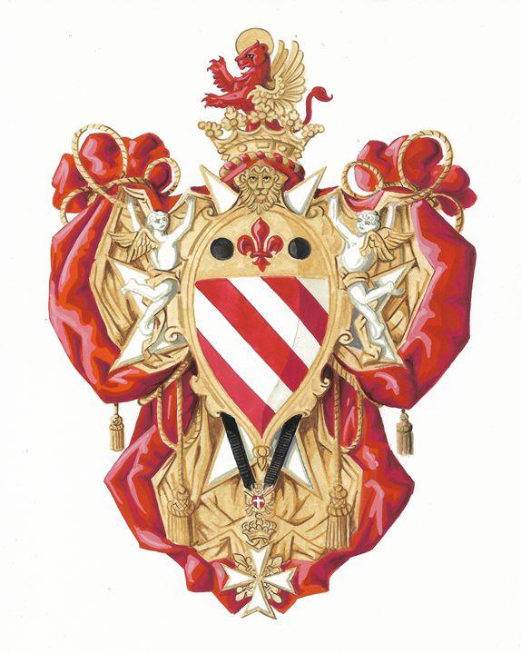Knight Grand Cross, S.M.O.M. (ASJ) - Orleans Heraldry & Fine Art