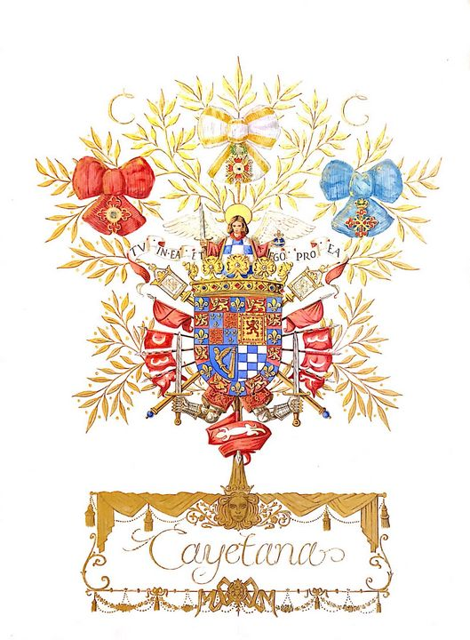 Arms of The Duchess of Alba - Orleans Heraldry & Fine Art