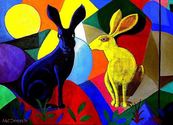Hares at Rest (Ce) - Orleans Heraldry & Fine Art