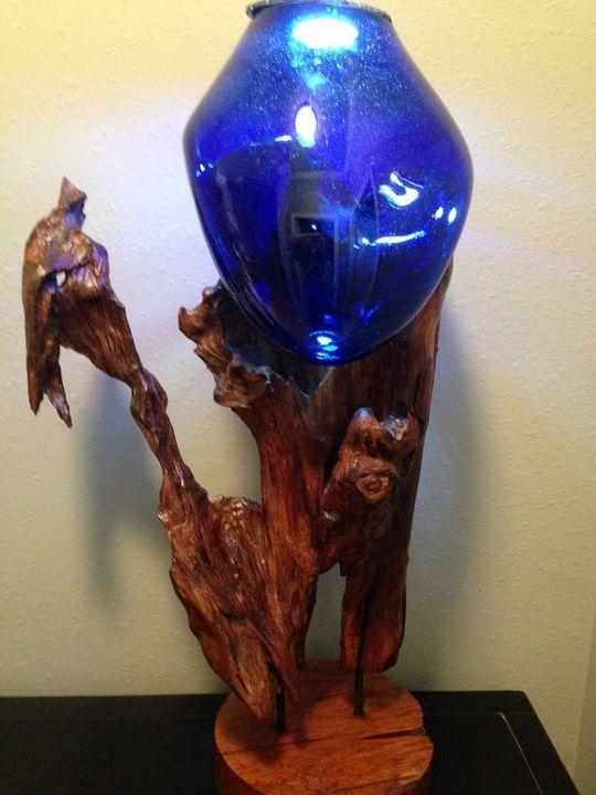Blue Beauty- Light Sculpture - Gregory Good