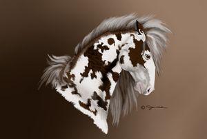 Painted Mustang Brown