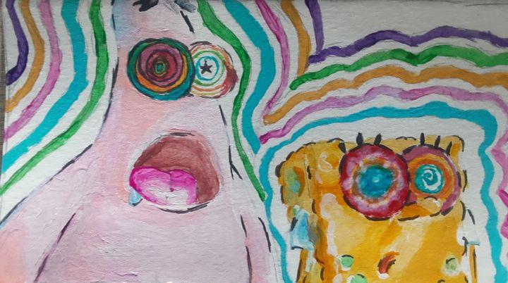 The Spongebob Movie Trippy - learninghowtodraw