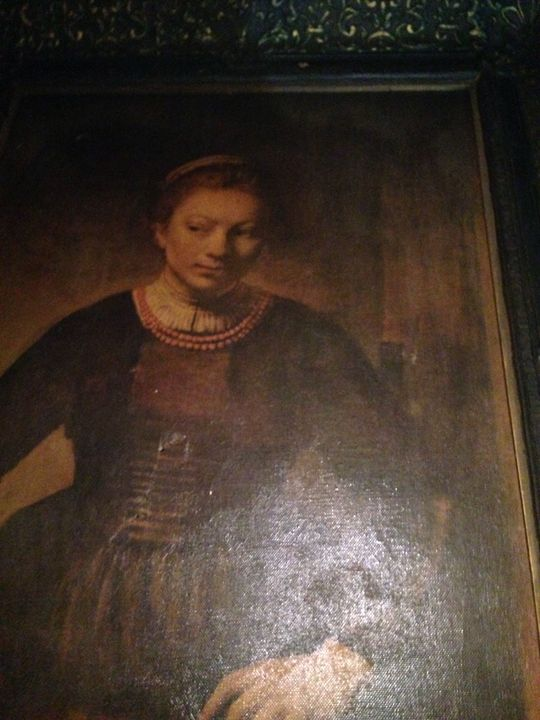 Canvas Painting signed by Rembrandt - George's Gallery