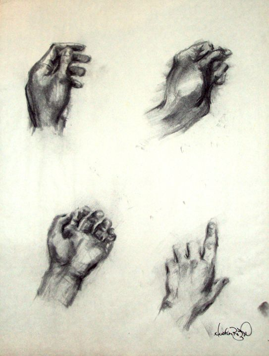 Study of the Artist's Hands - Heather Royal