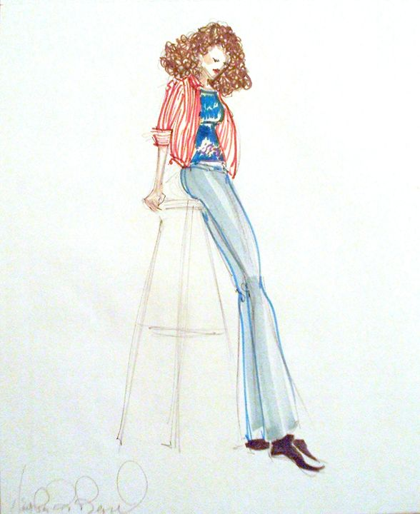 Sherry on a Stool - Heather Royal