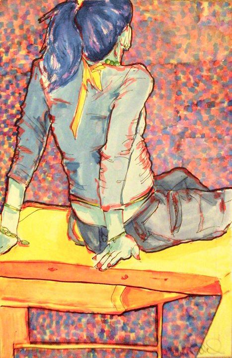 Seated Girl - Heather Royal