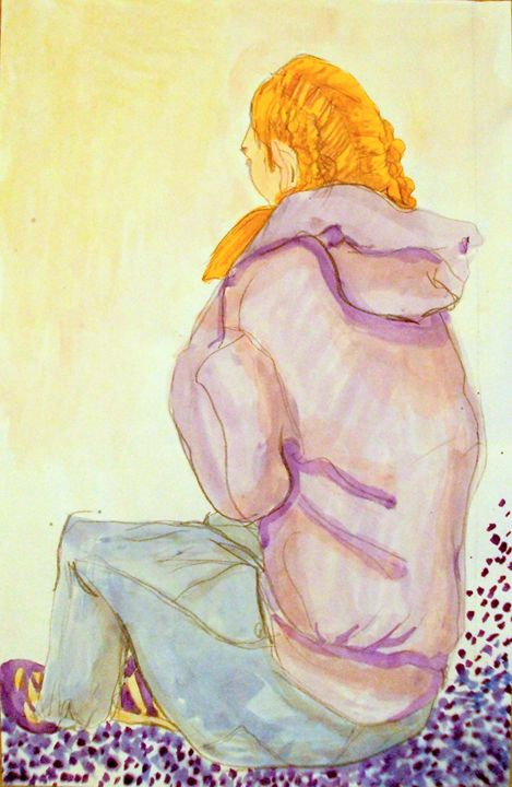 Girl Sitting No 3 - Heather Royal