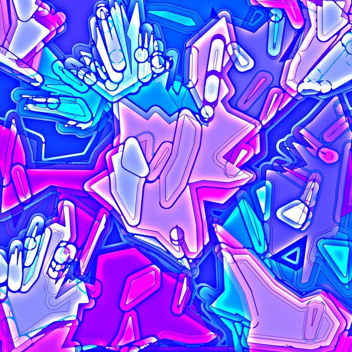 Cotton Candy Crystals - Luke Mitchell's Art
