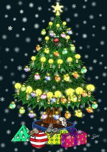 Chris Tingle the Christmas tree