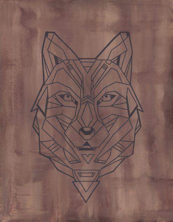 Geometric Wolf - ElizabethPaintingCo