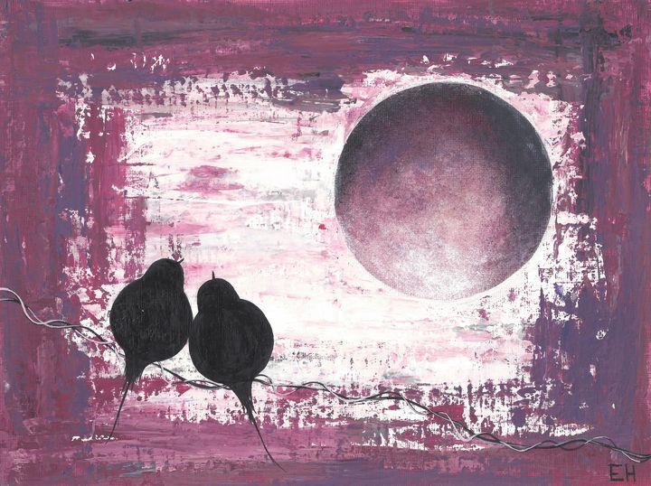 Two Birds - ElizabethPaintingCo