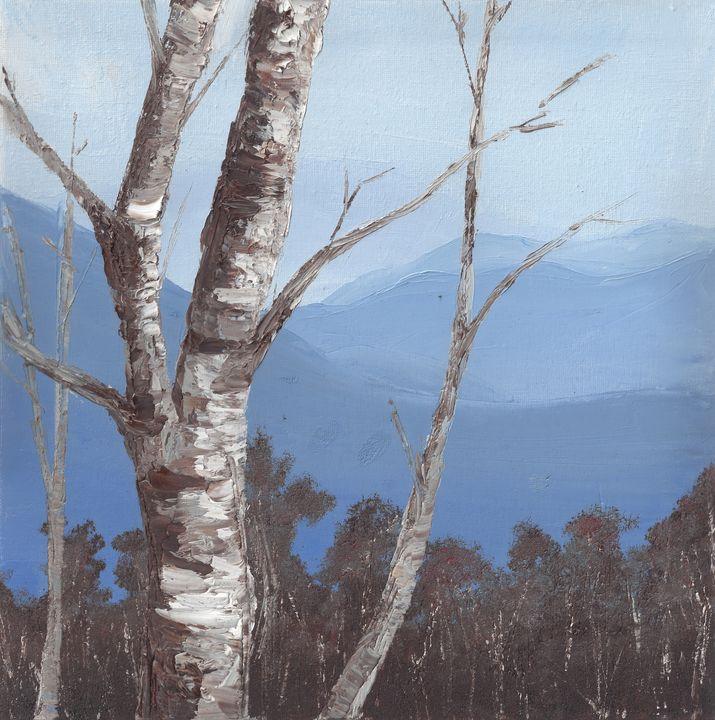 Mountains and Aspen - ElizabethPaintingCo