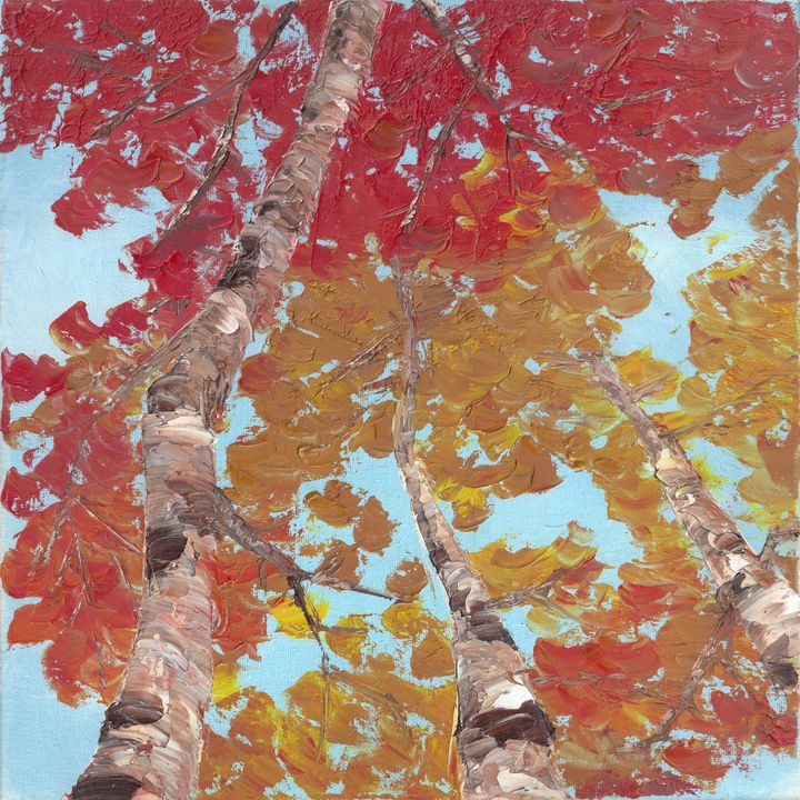 Autumn from Below - ElizabethPaintingCo