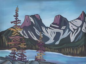Purple Three Sisters, Canmore