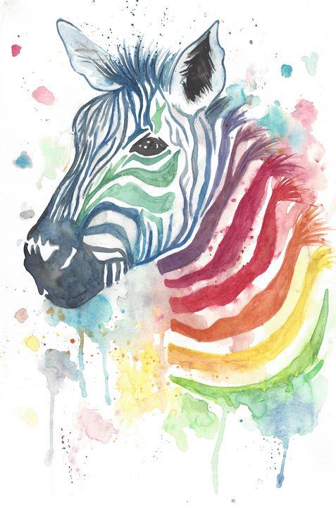 Zebra 1 of 2 - ElizabethPaintingCo