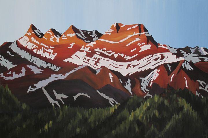 Mount Lougheed, Alberta - ElizabethPaintingCo