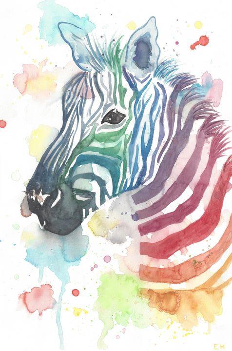 Zebra 2 of 2 - ElizabethPaintingCo