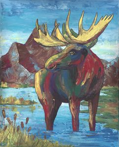 Colorful Moose