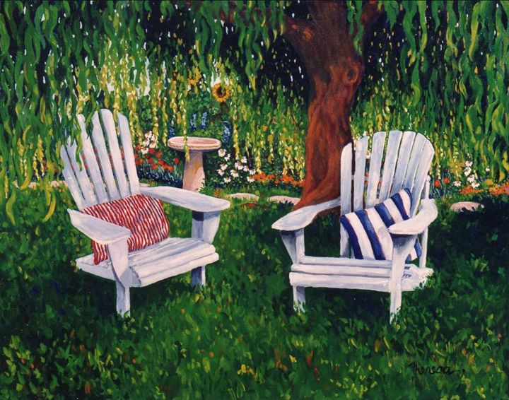 Chairs in the shade. - The Delaney Odyssey
