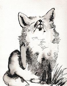Greyscale Fox