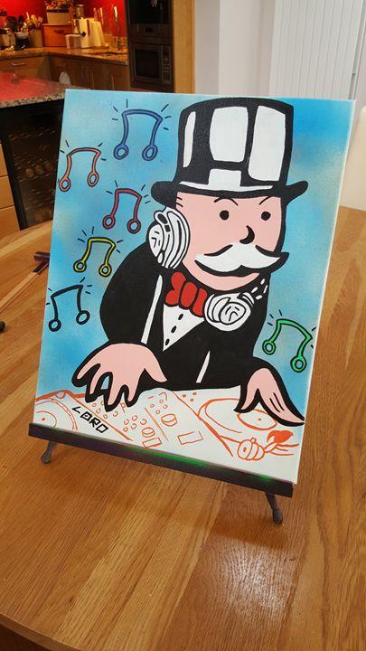 DJ Monopolz - Artwork by Lóro
