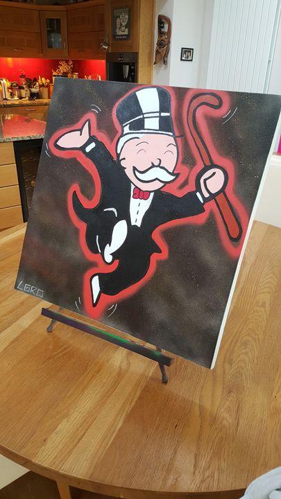 Happy Monopoly Man - Artwork by Lóro
