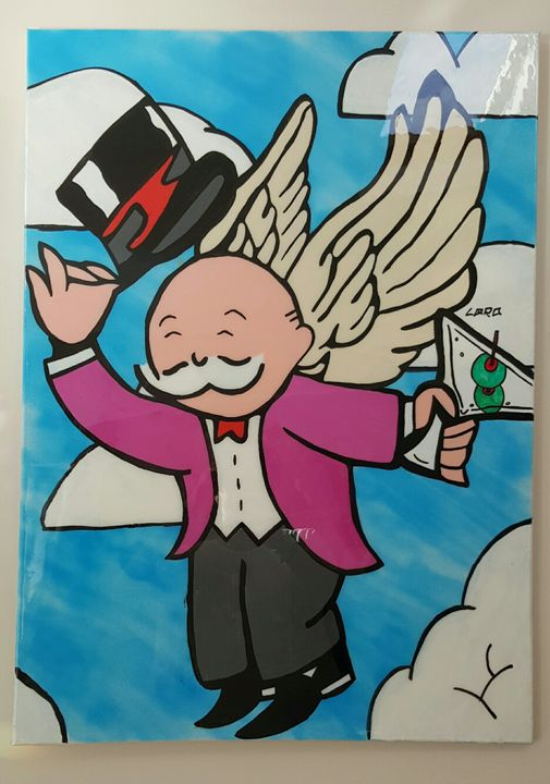 Flying Drunk - Monopoly Guy - Artwork by Lóro