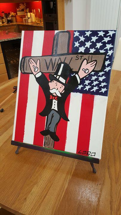 Bernie Madoff/Monopoly - Wall Street - Artwork by Lóro