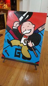 'Pass Go' Monopoly Man