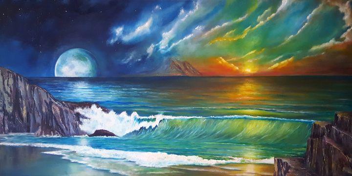 waves - Dad's Paintings