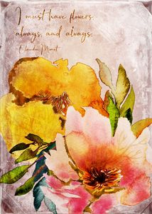 Wildflowers Bouquet with Quote
