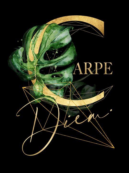 Carpe Diem - Inspiring quote in Gold - Beautiful Quotes