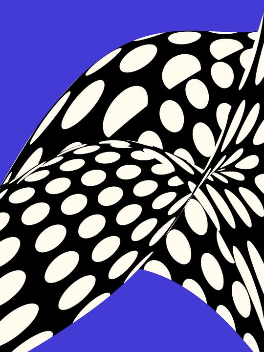 """Wavy Dots on Blue """"Pop Art"""" Style - Beautiful Quotes"""