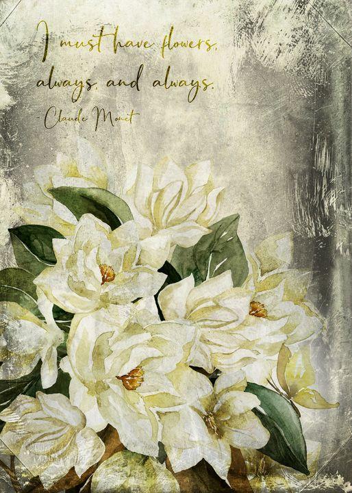 Magnolia Bouquet Quote – Vintag - Beautiful Quotes