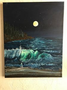 Night wave - LuxuryArtPaintings