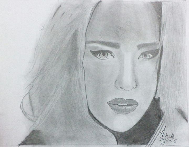 Caity Lotz sketch - Anirudh