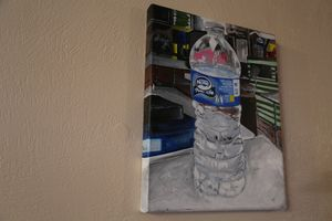 Realism Painting of Bottled Water