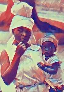 Haitian Mother and Child - Bob Gumbs