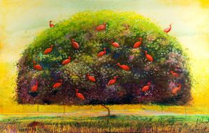 Tree Of Scarlet Ibis