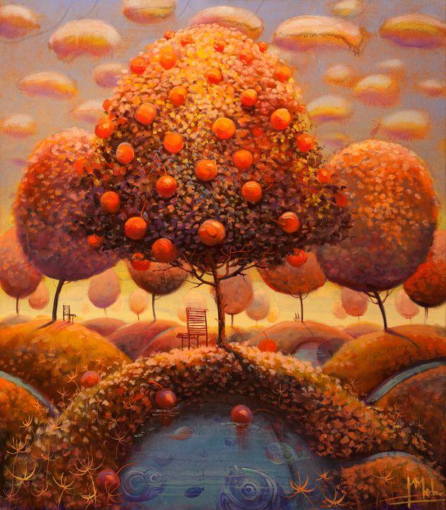 Apple Tree in Autumn - Malinauskas
