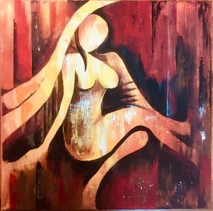 Lady abstract art