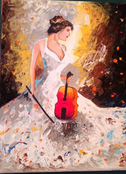 Lady with violin - mitra