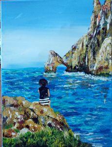 Rock garden and sea